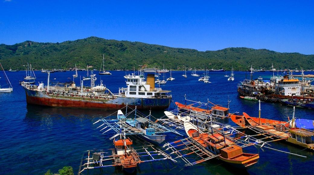 Manado showing boating and general coastal views