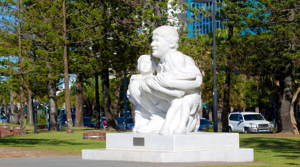 Mooloolaba which includes a statue or sculpture and outdoor art