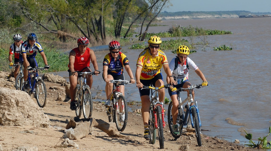 Entre Rios which includes mountain biking, a sporting event and a river or creek