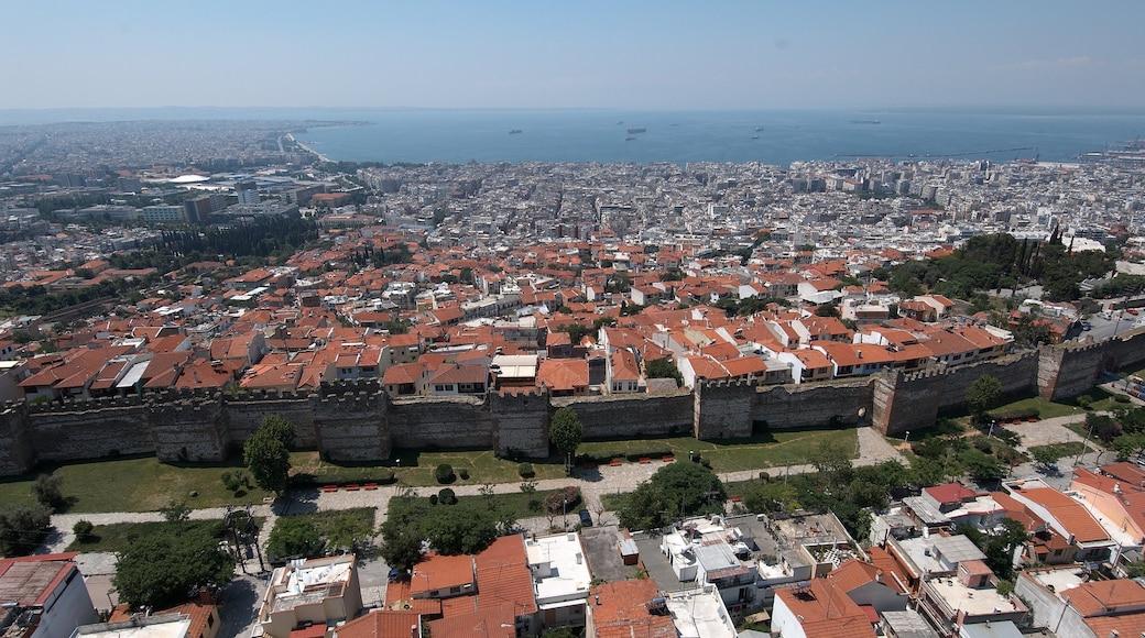 Byzantine Walls showing a coastal town
