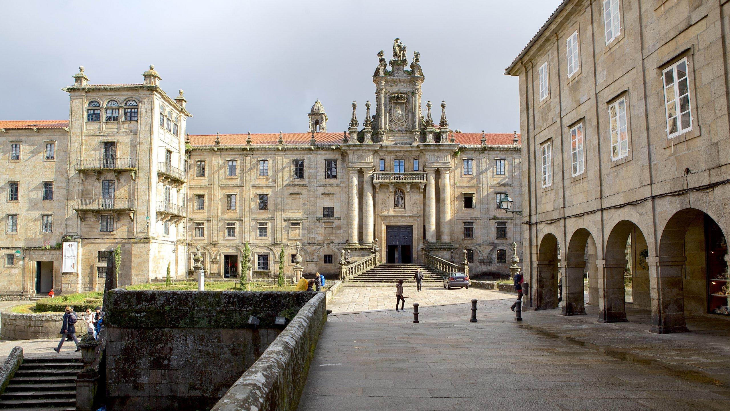 Plaza de la Quintana, Santiago de Compostela, Galicia, Spain