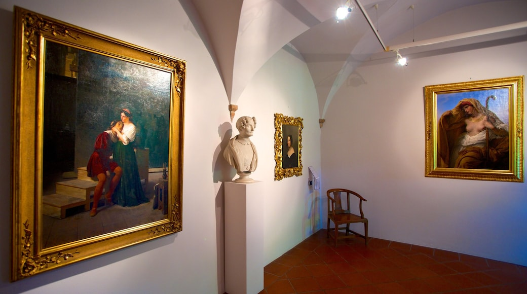 Masnago Castle showing art and interior views