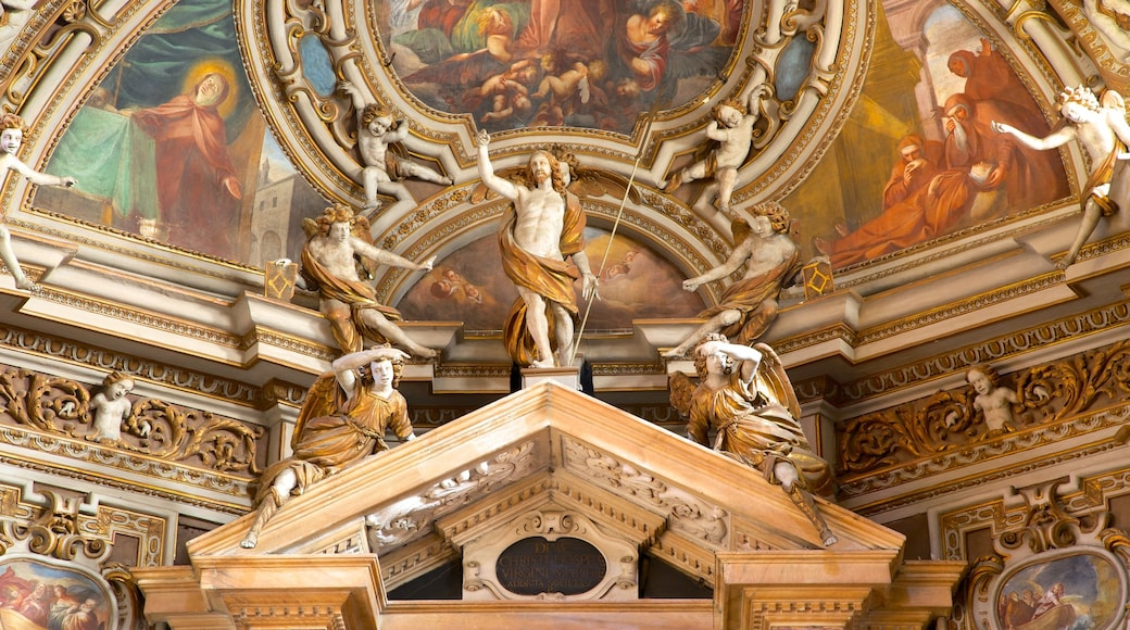 San Vittore Basilica showing a church or cathedral, art and interior views