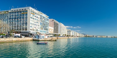 Thessaloniki which includes a city and general coastal views