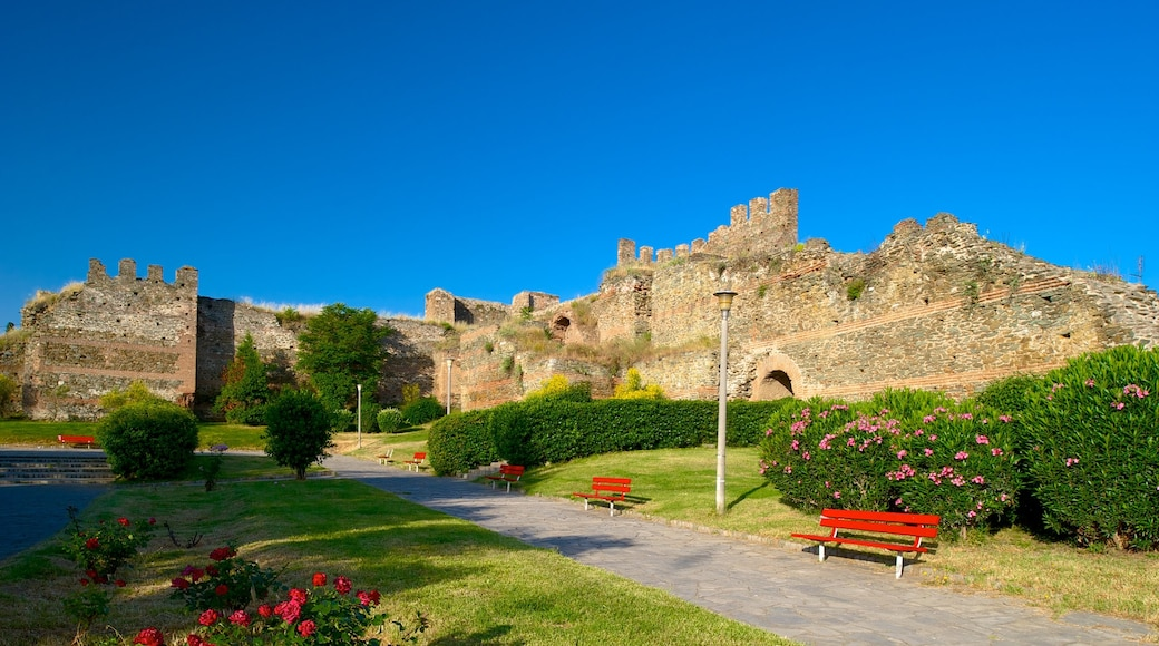 Byzantine Walls featuring building ruins, heritage architecture and a garden