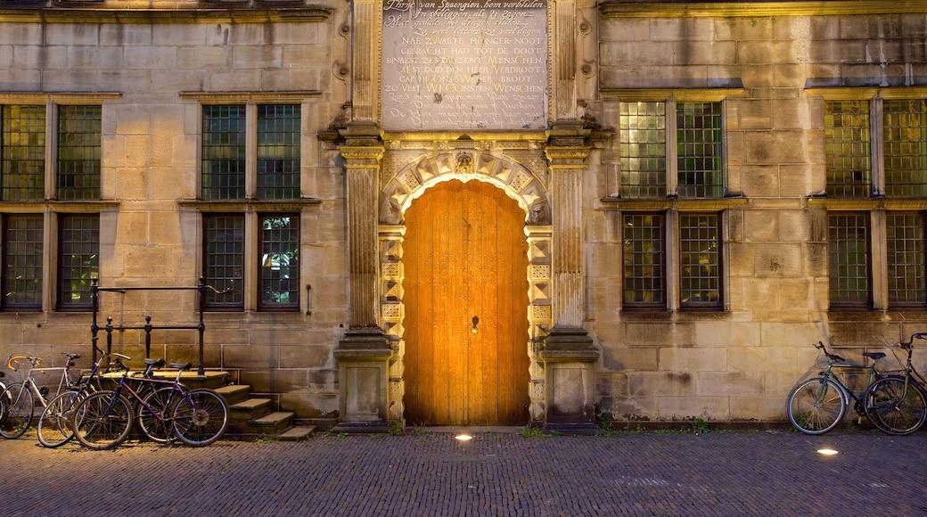 Stadhuis qui includes scènes de rue et patrimoine architectural