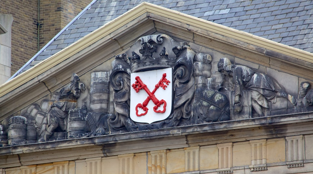 Waag showing heritage architecture and signage
