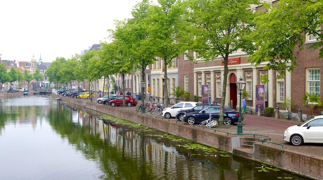 Rijksmuseum van Oudheden showing street scenes and a river or creek