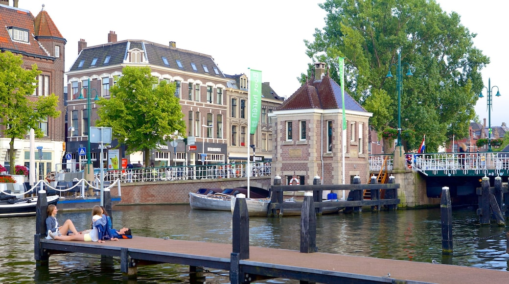 Beestenmarkt showing a small town or village and a river or creek