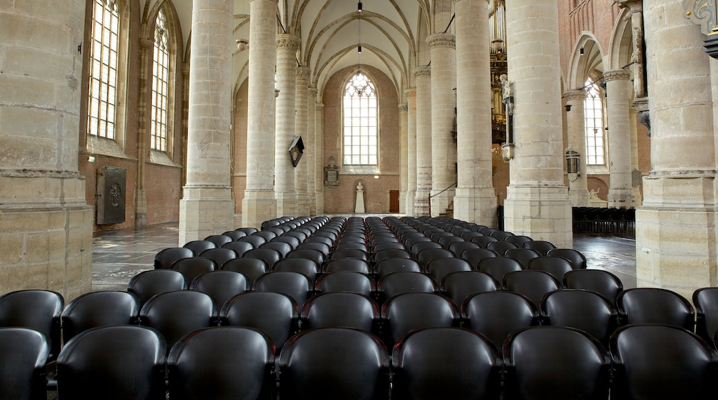 Pieterskerk showing interior views, a church or cathedral and heritage architecture