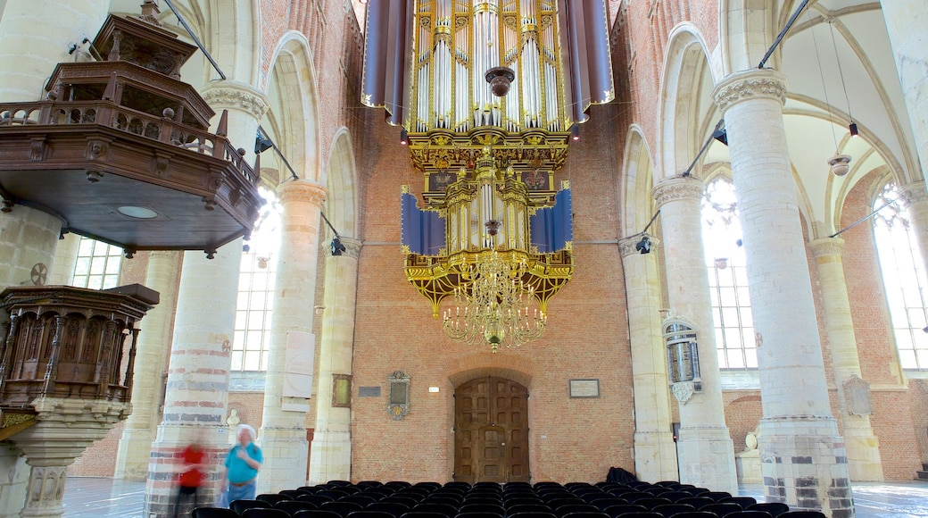 Pieterskerk which includes interior views, heritage architecture and a church or cathedral