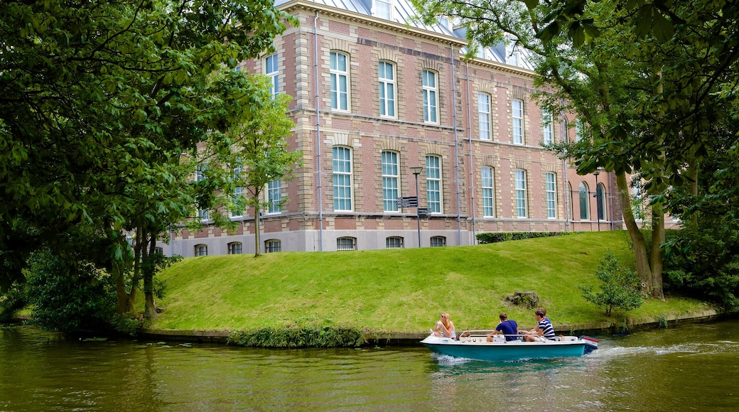 National Museum of Ethnology featuring boating and a river or creek as well as a small group of people