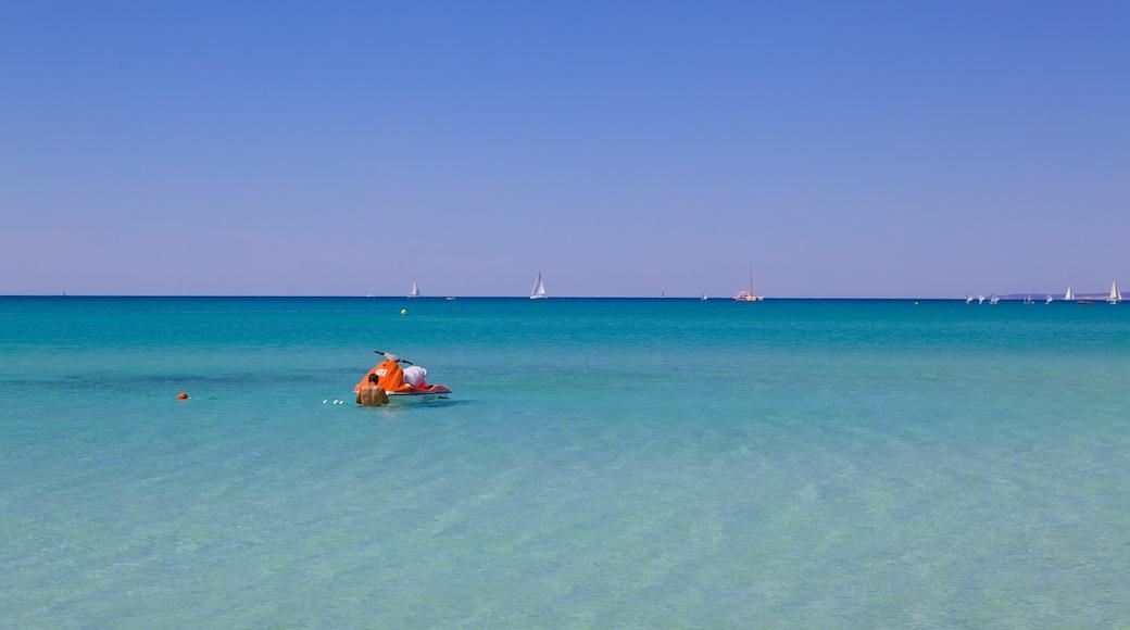 Palma de Mallorca mostrando vistas de una costa y moto acuática