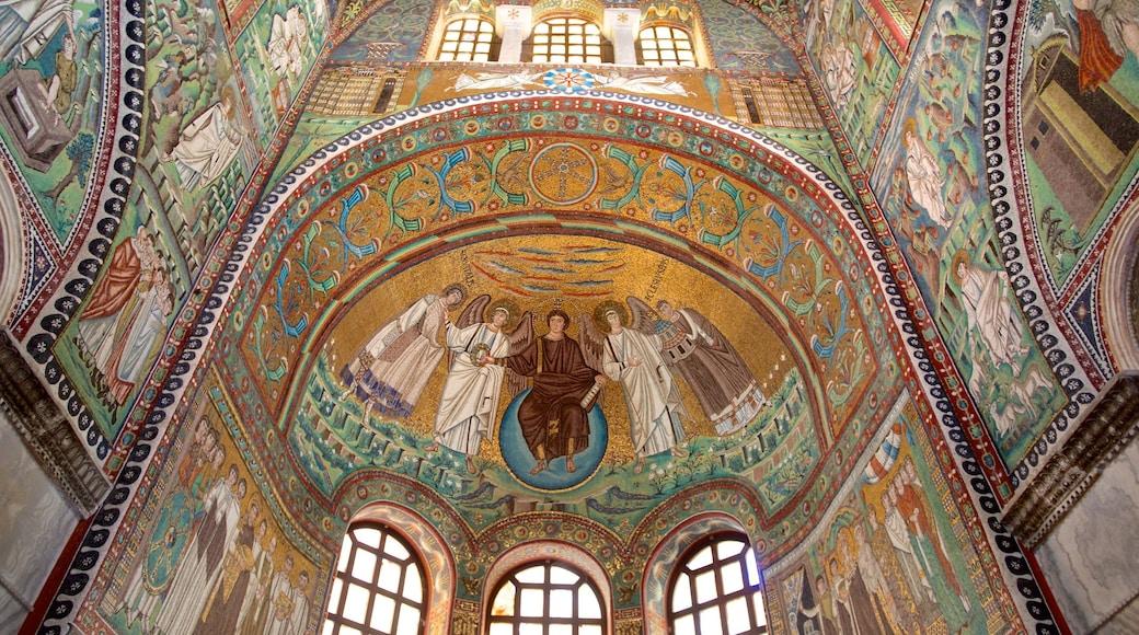Basilica di San Vitale caratteristiche di vista interna, arte e elementi religiosi