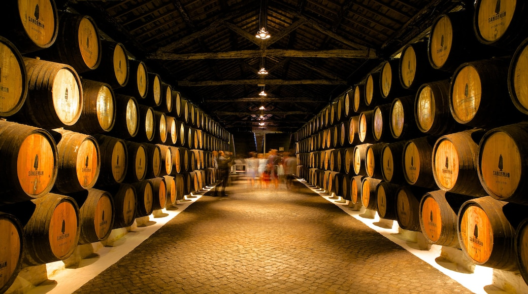 Sandeman Cellars featuring interior views and drinks or beverages