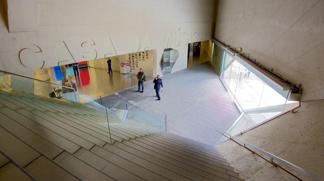 Casa da Musica fasiliteter samt innendørs