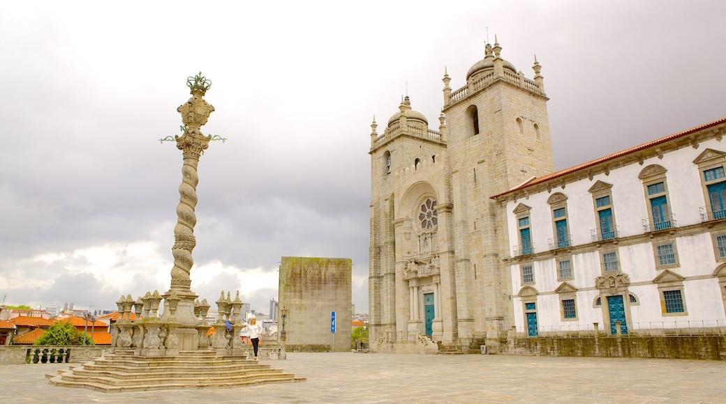 Porto katedral fasiliteter samt torg eller plass, monument og historisk arkitektur