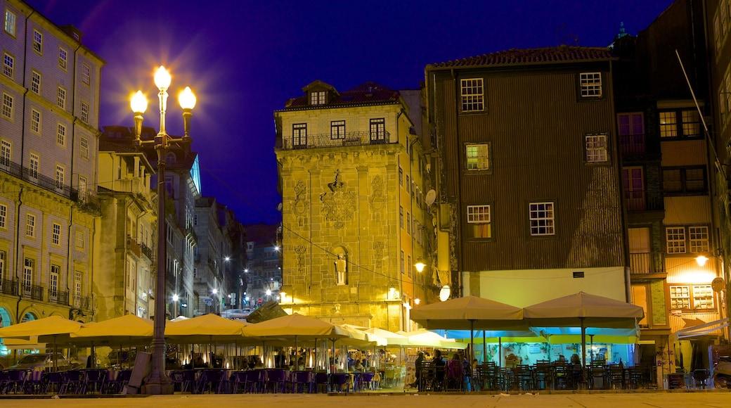 Ribeira-plassen fasiliteter samt uteliv, by og nattbilder