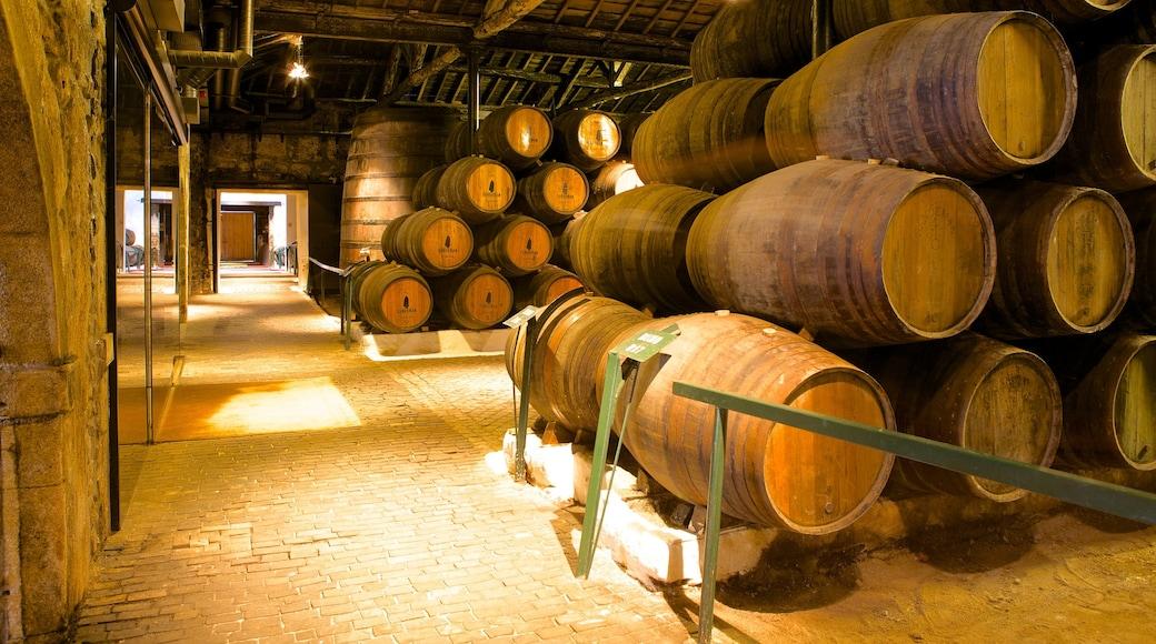 Sandeman Cellars fasiliteter samt innendørs og industrielle elementer