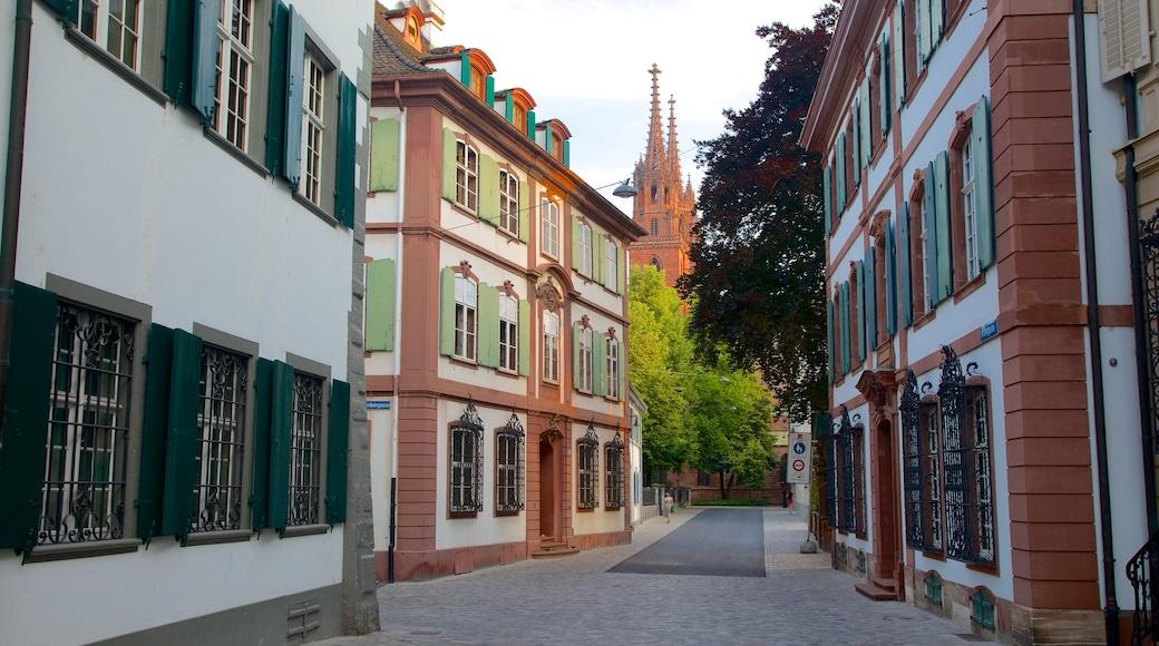 Basel showing street scenes