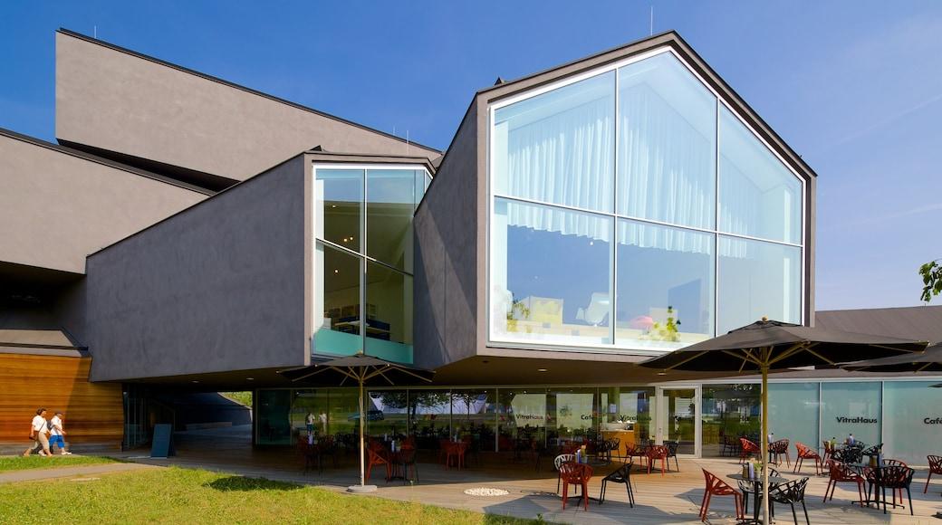 Basilea ofreciendo escenas cotidianas y arquitectura moderna