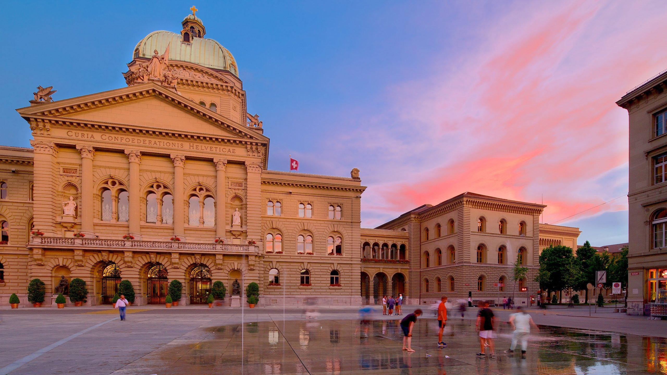 Bundeshaus (Zwitsers parlement), Bern, Kanton Bern, Zwitserland