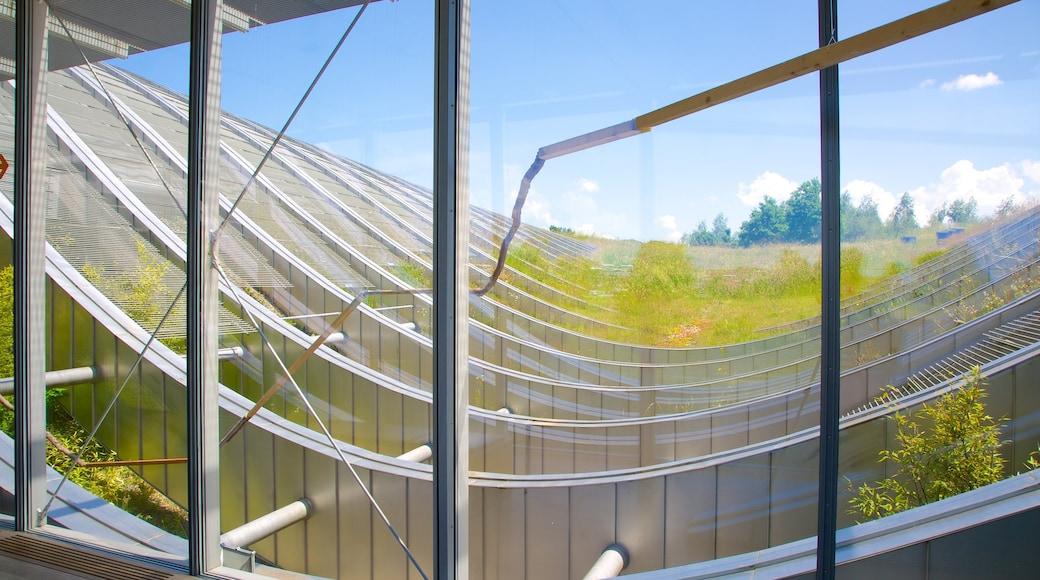 Museu Paul Klee que inclui arquitetura moderna e vistas internas