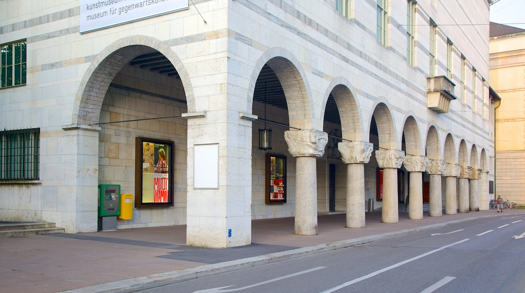 Basel Art Museum which includes street scenes