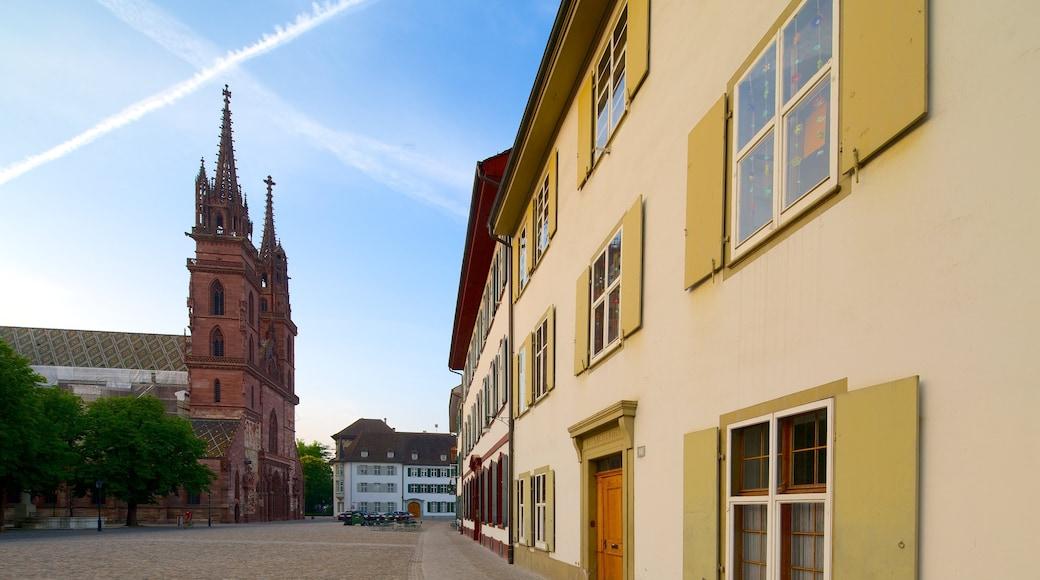 Basel featuring street scenes