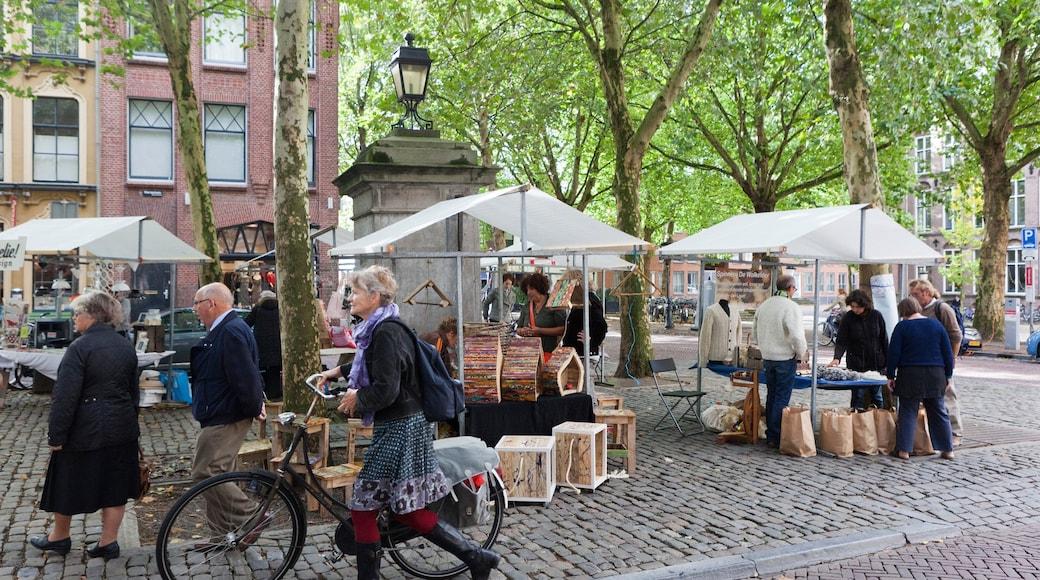 Utrecht caracterizando ciclismo, mercados e cenas de rua