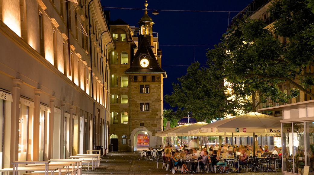 Geneva showing street scenes, dining out and nightlife