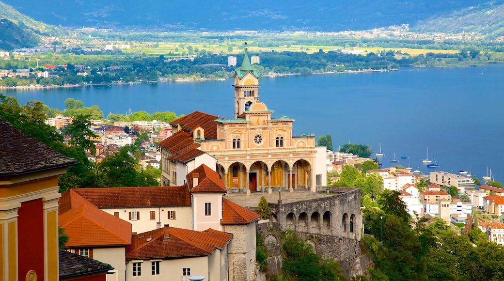 Madonna del Sasso welches beinhaltet Küstenort, Landschaften und See oder Wasserstelle