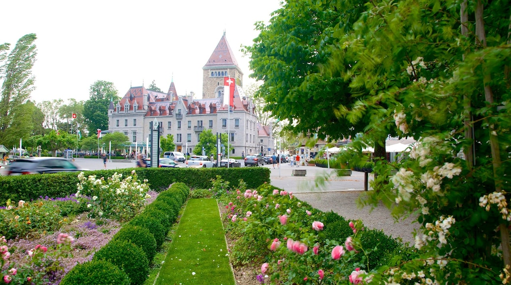 Lausanne which includes a park and flowers