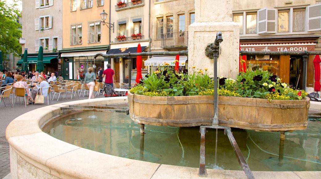 Bourg-de-Four Square featuring a fountain