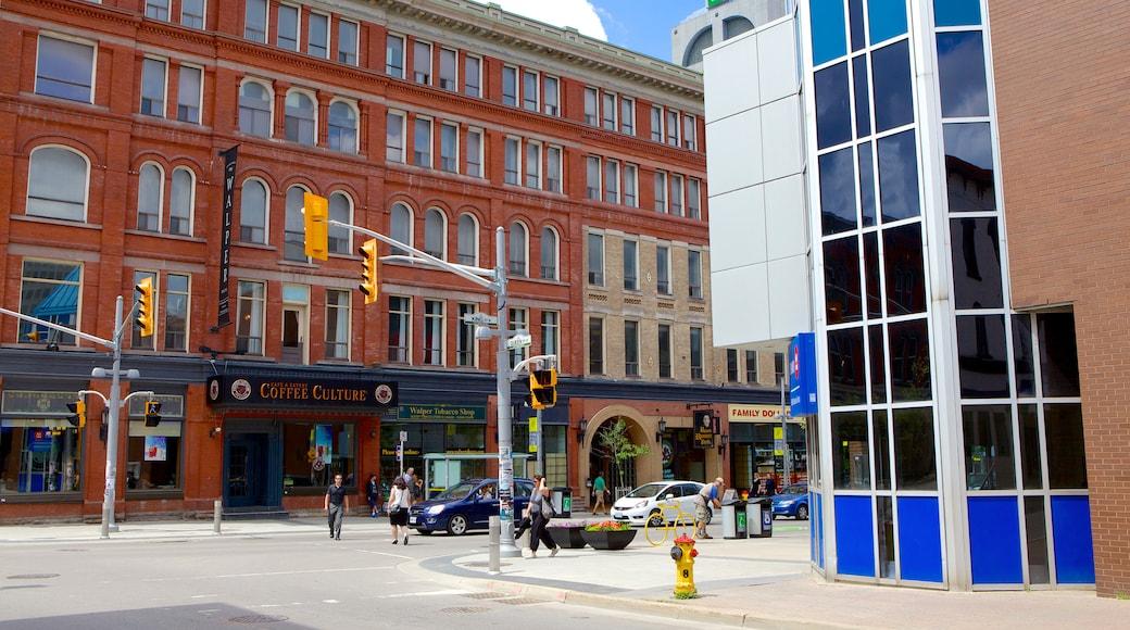 Kitchener featuring street scenes