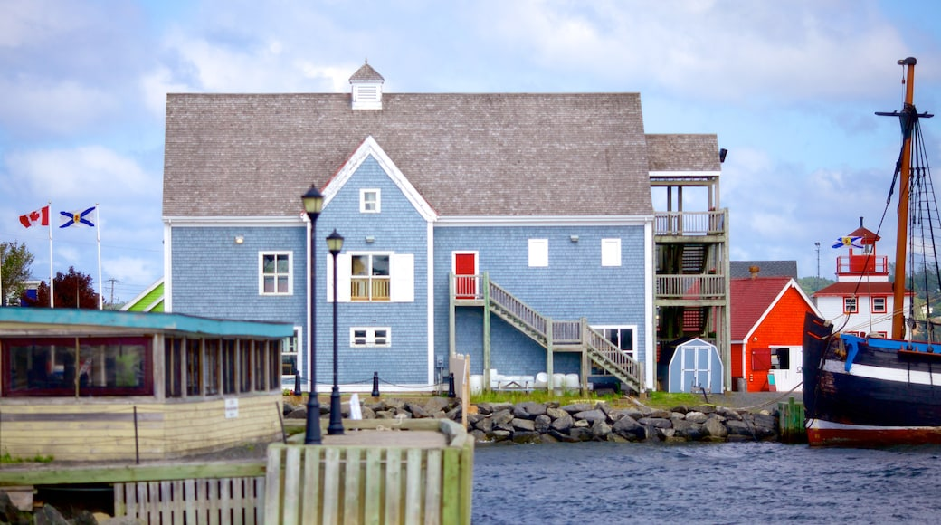 Pictou which includes a house and general coastal views