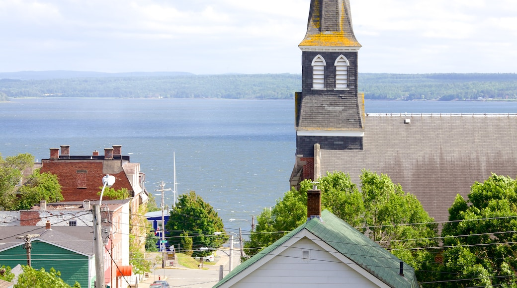 Pictou which includes landscape views and general coastal views