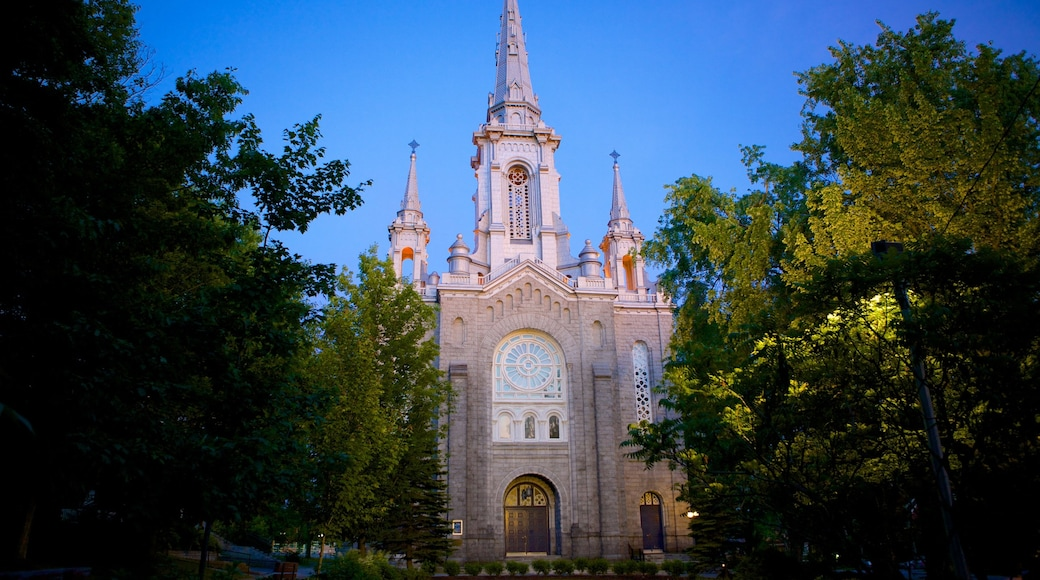 Sherbrooke which includes a church or cathedral, religious aspects and heritage architecture