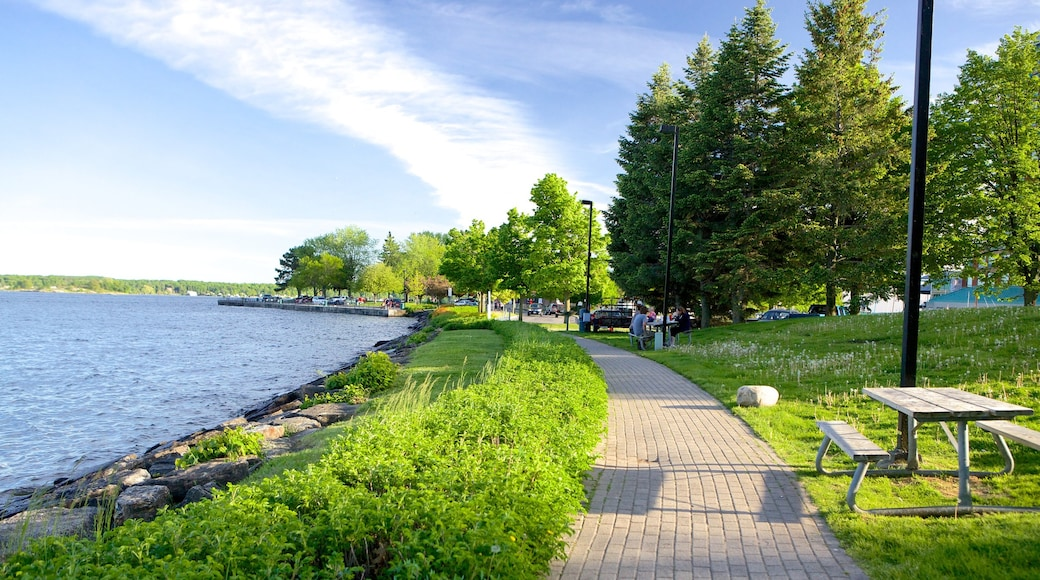 Brockville featuring a river or creek and a garden