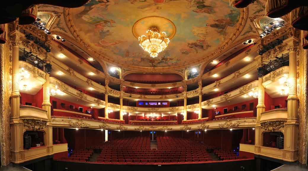 Koninklijke Opera van Wallonië bevat theaters en interieur