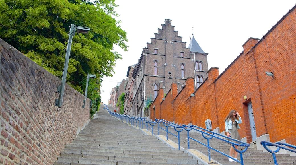 Montagne de Bueren welches beinhaltet historische Architektur