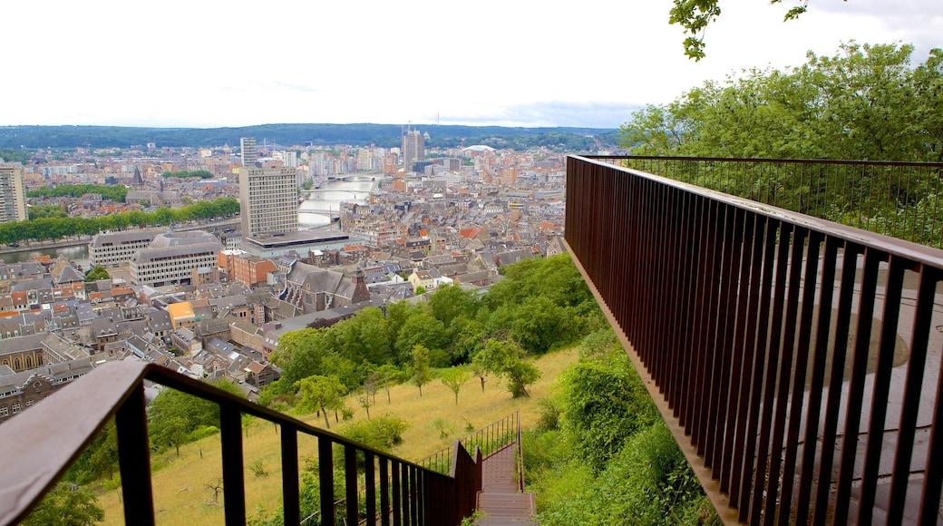 Montagne de Bueren welches beinhaltet Stadt und Ansichten