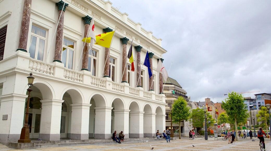 Koninklijke Opera van Wallonië inclusief straten en een klein stadje of dorpje