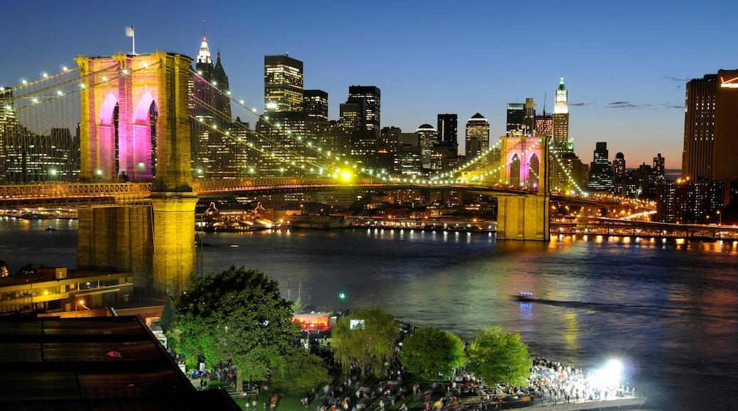 브루클린 브리지 을 특징 다리, CBD 과 강 또는 시내