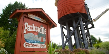 Parksville which includes signage