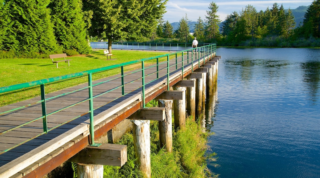 Port Alberni showing a park and a river or creek