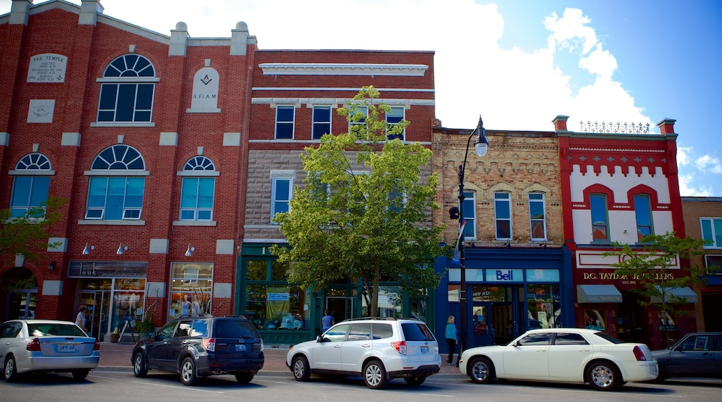 Collingwood showing street scenes and heritage architecture