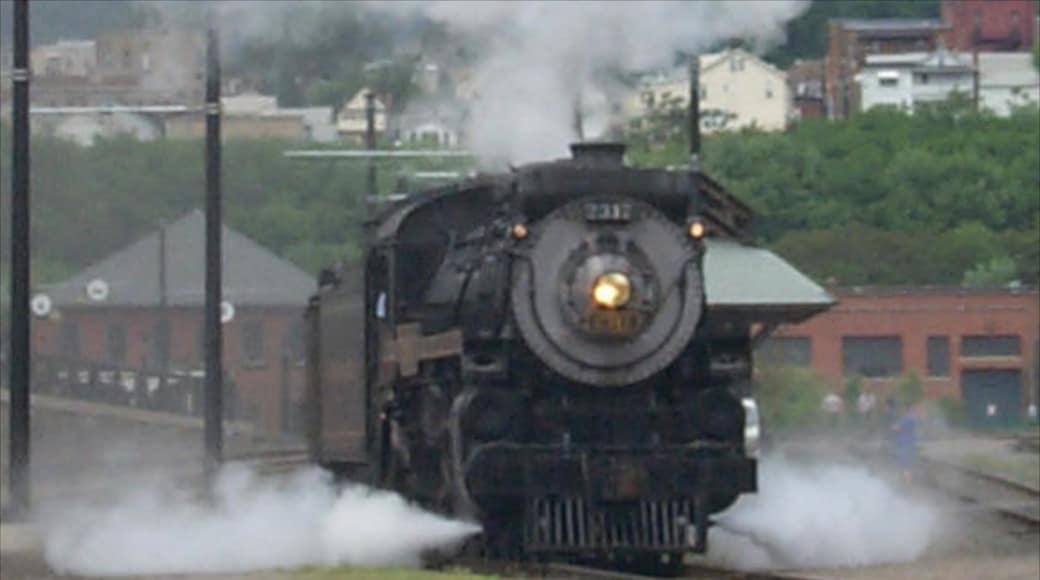 Scranton que inclui itens de ferrovia