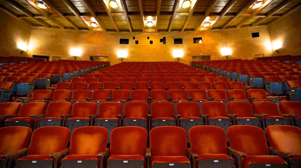 Hershey Theater caracterizando vistas internas e cenas de teatro