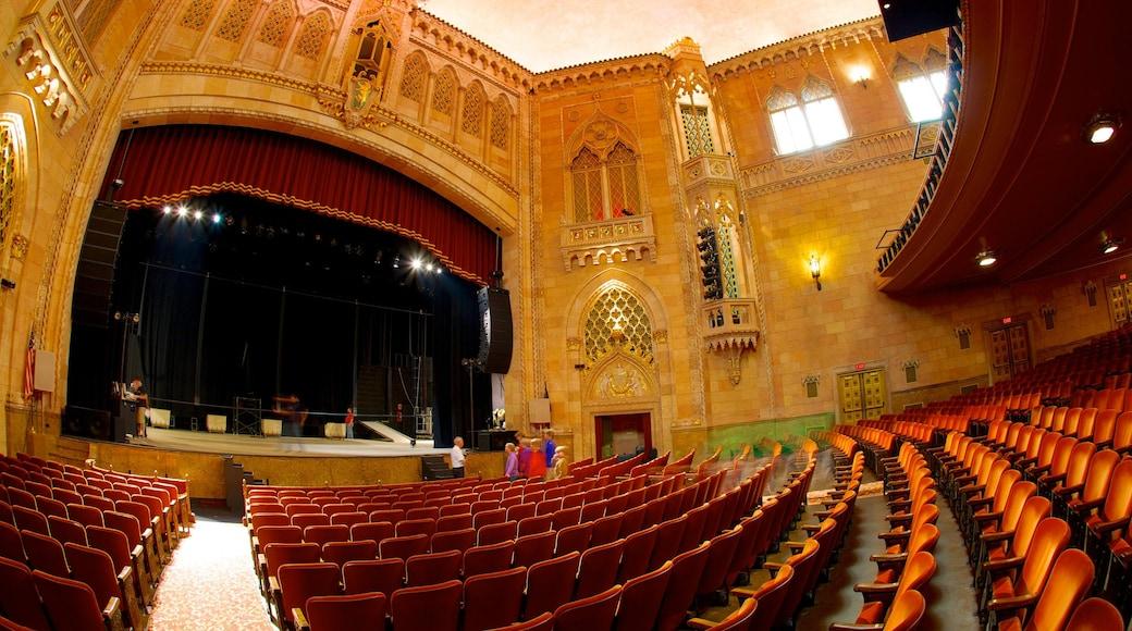 Hershey Theater caracterizando cenas de teatro, arquitetura de patrimônio e vistas internas